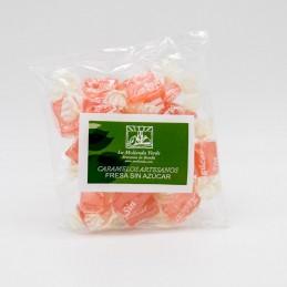 Caramelos de fresa sin azúcar