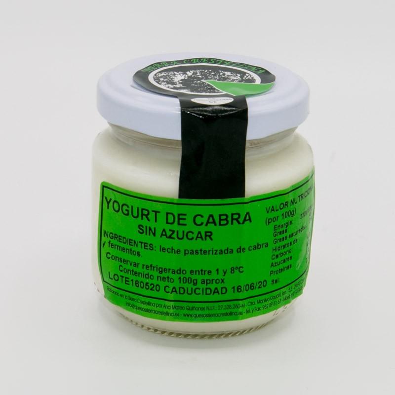 Yogur de cabra sin azúcar. 100gr