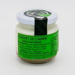 Yogur de cabra con castañas. 100gr